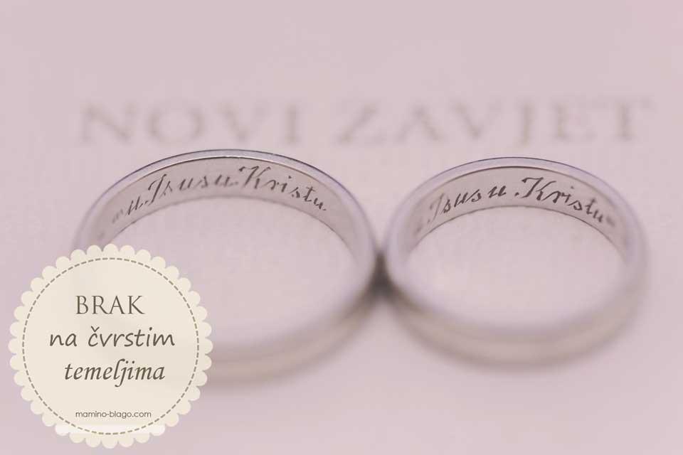 prsteni na novom zavijetu temelji čvrstog braka